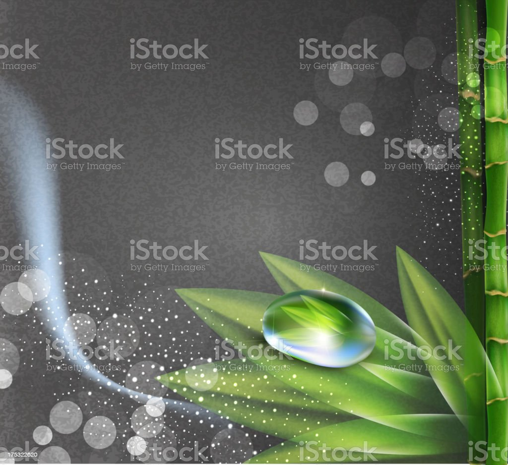 vector background greyl colors with a drop of dew vector art illustration