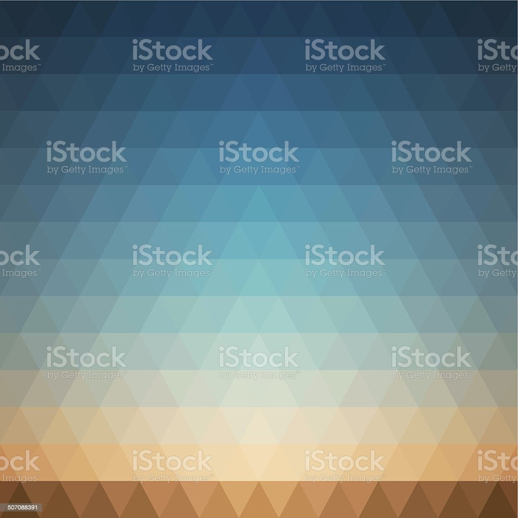 Vector background made of triangles. Summer landscape vector art illustration