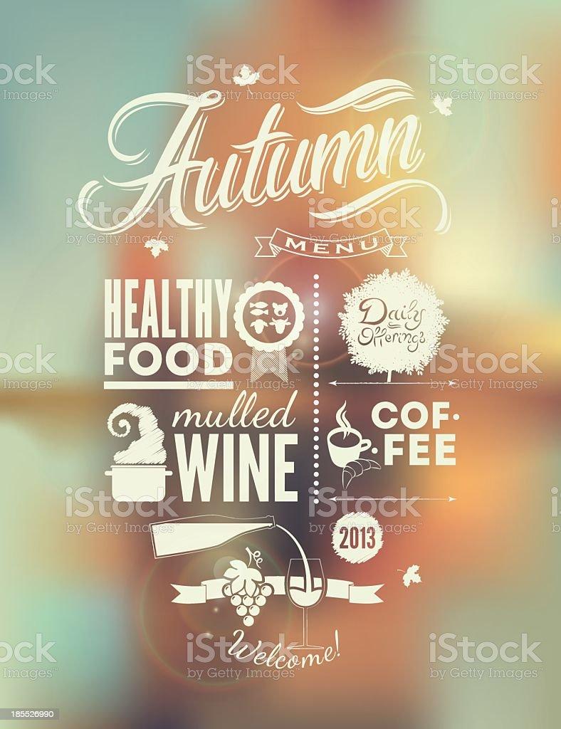 A vector background of a menu poster vector art illustration