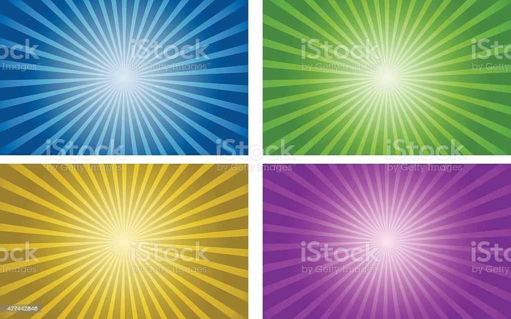 vector background set of gradient radial vector art illustration