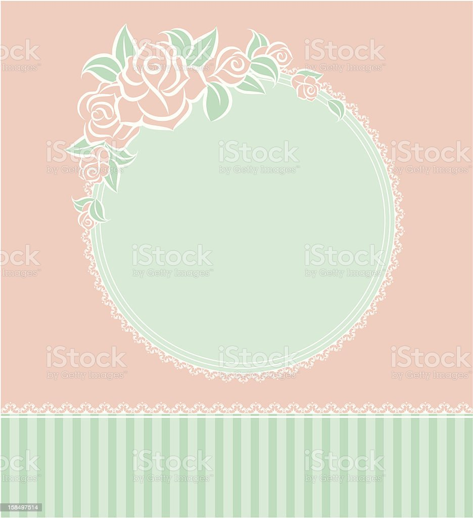 Vector background with beautiful flowers royalty-free stock vector art