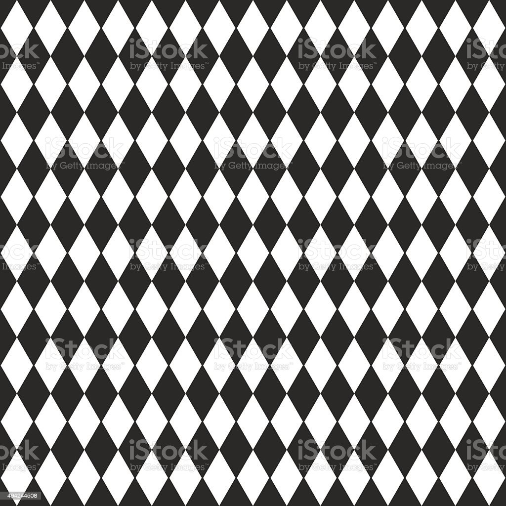 Vector background with black and white rhombus vector art illustration