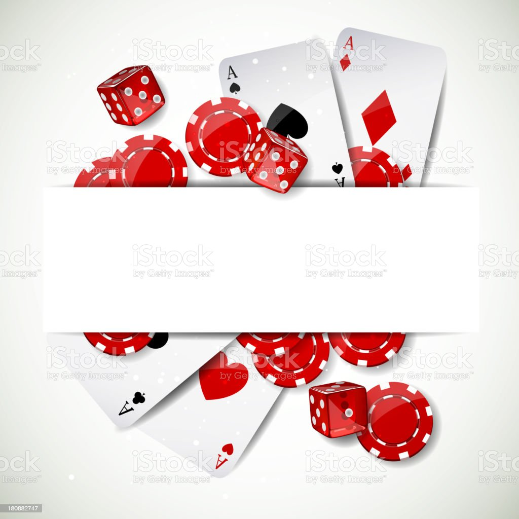 Vector Background with Casino Elements vector art illustration