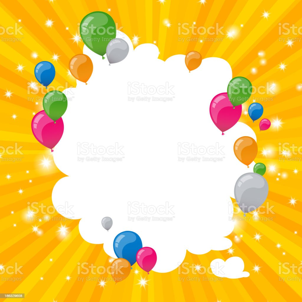 Vector Background with Colorful Balloons royalty-free stock vector art