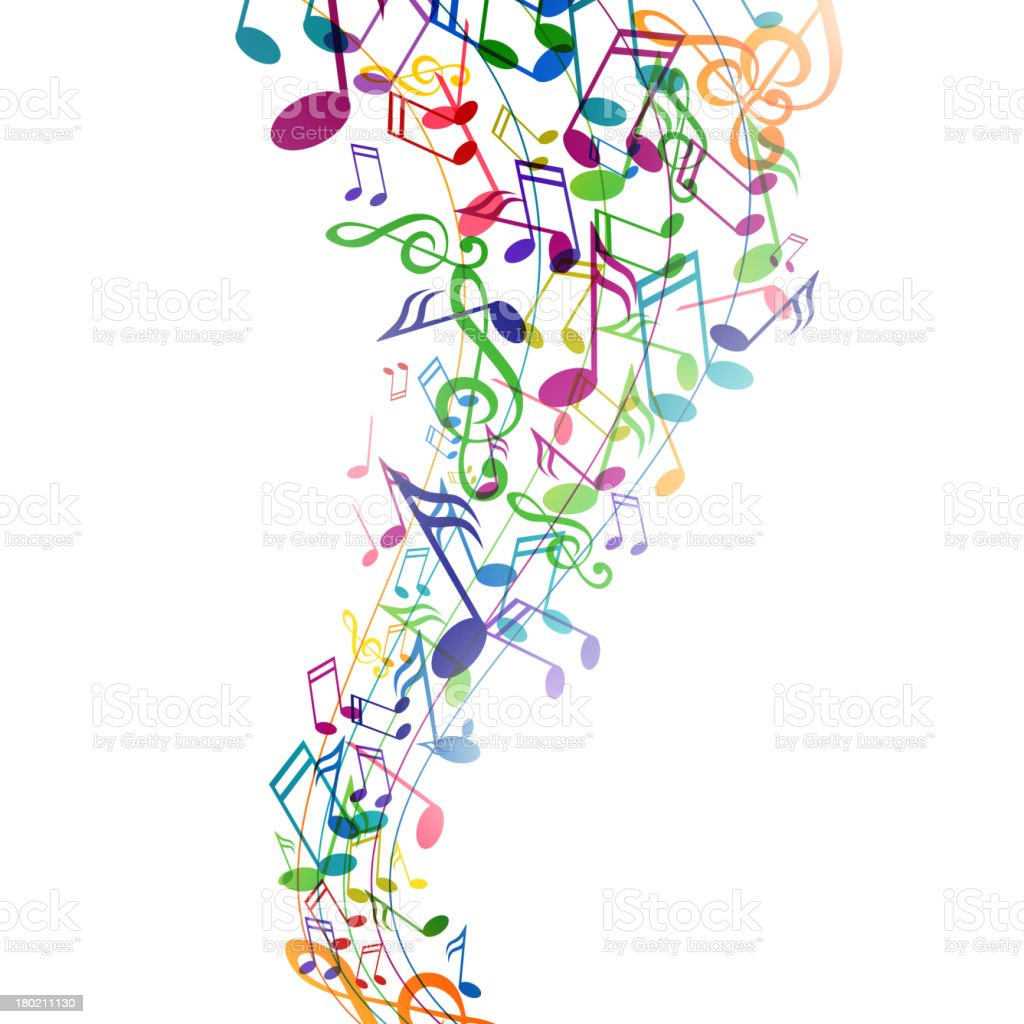Vector Background With Colorful Music Notes stock vector ...
