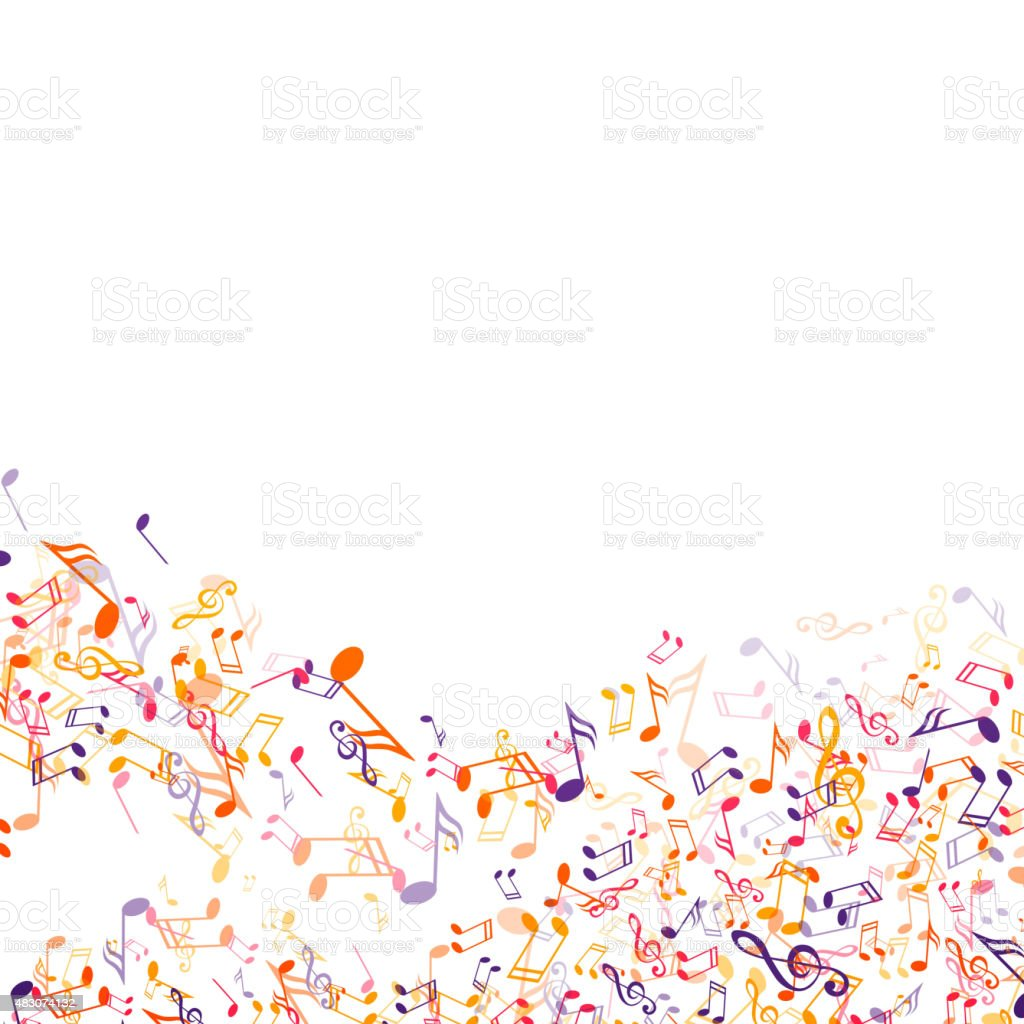 Vector Illustration of an Abstract Background with Colorful Music...