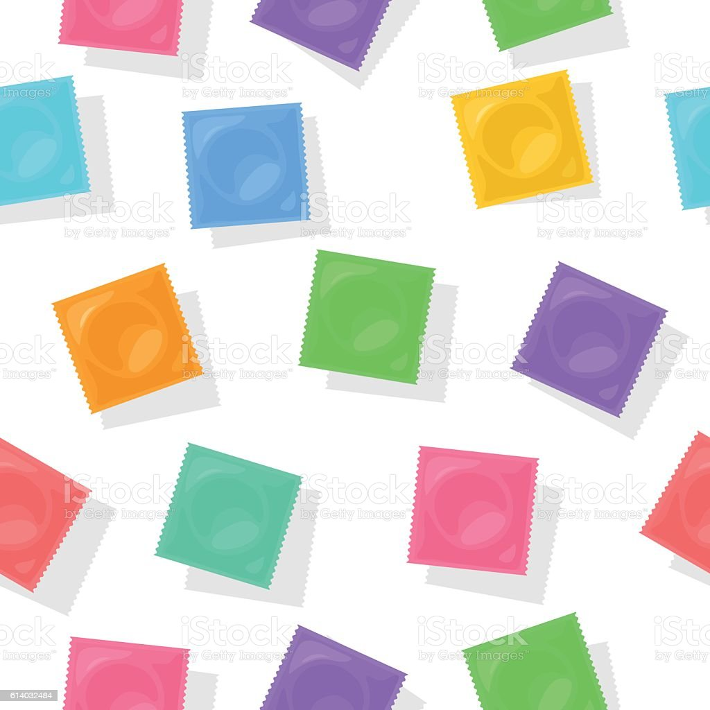 Vector background with condom packs. vector art illustration