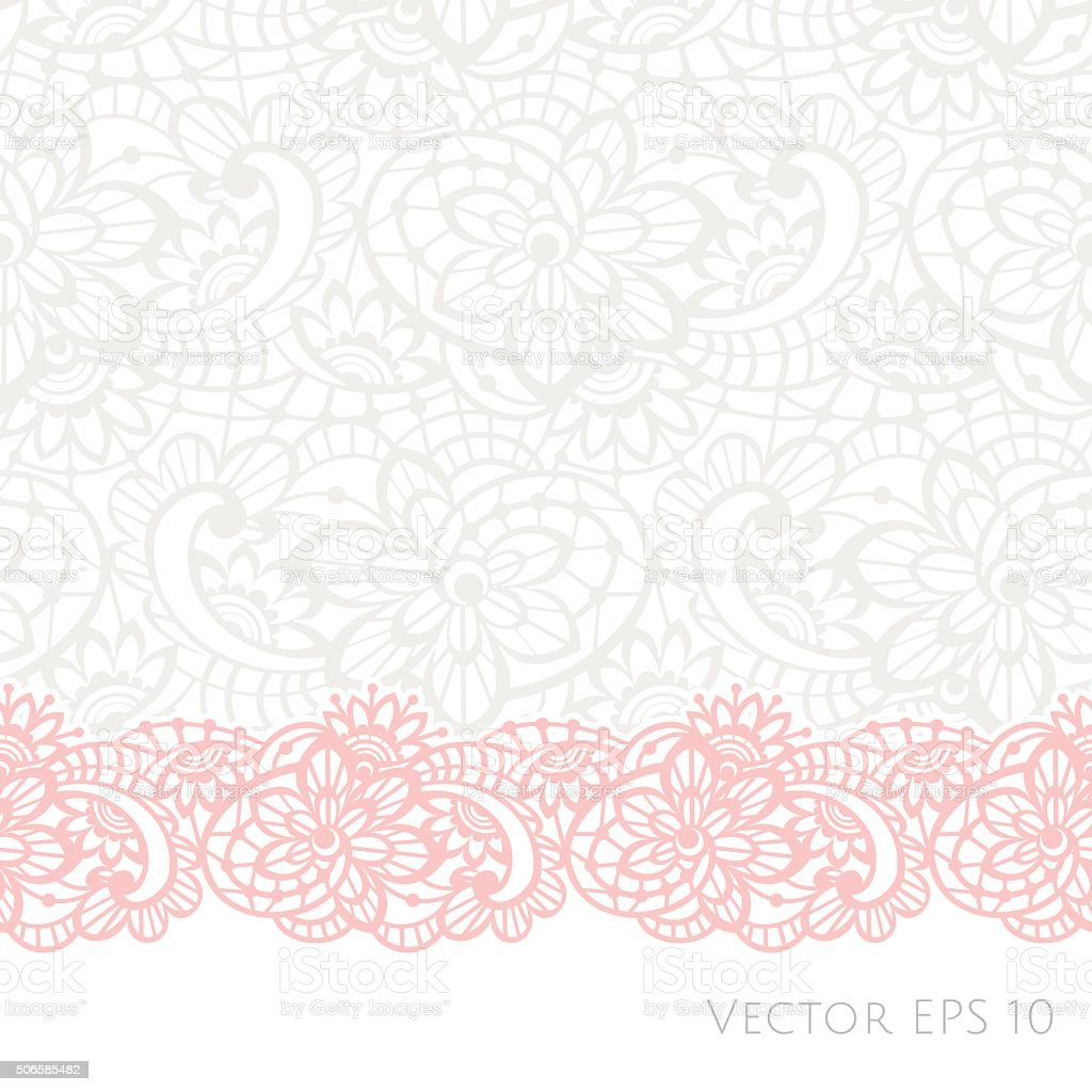 Vector background with floral lace vector art illustration