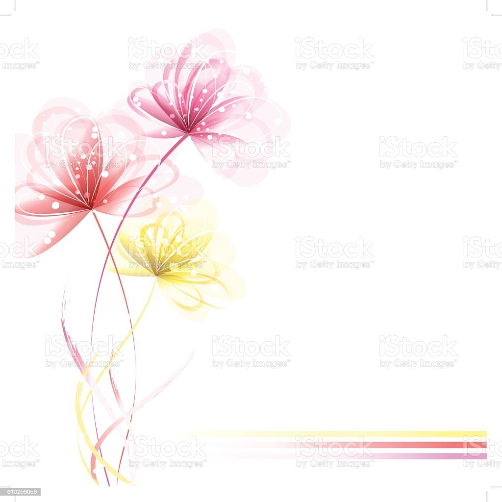 vector background with flowers vector art illustration