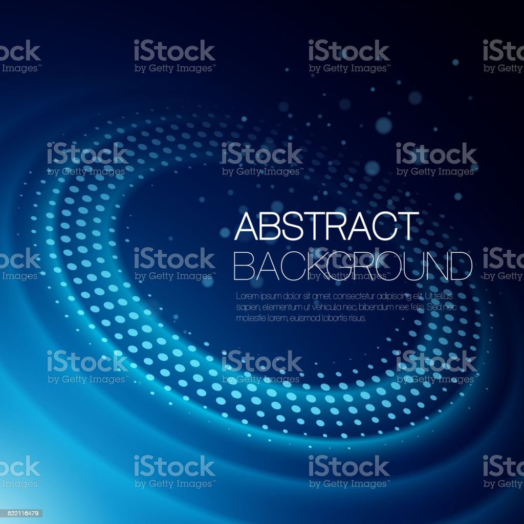 Vector background with glowing space orbit vector art illustration