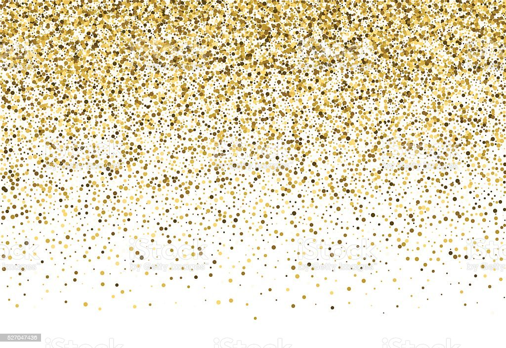 Vector background with gold glitter. vector art illustration