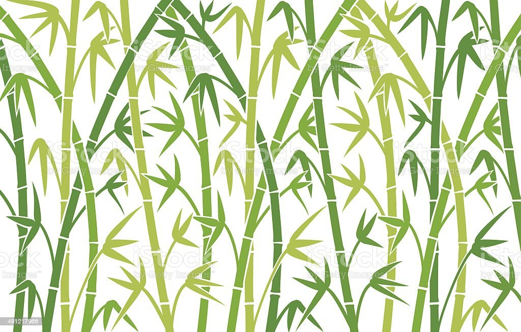 vector background with green bamboo stems vector art illustration