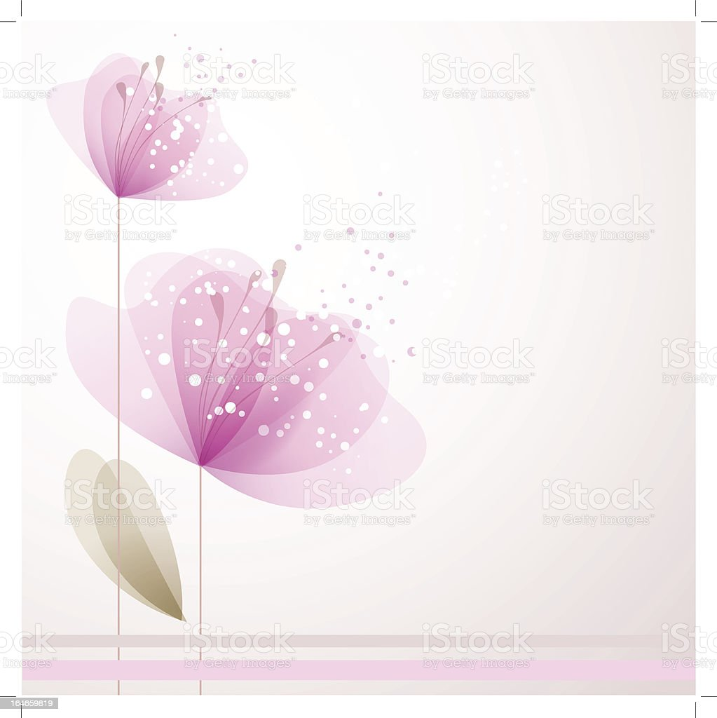 Vector background with pink flowers royalty-free stock vector art