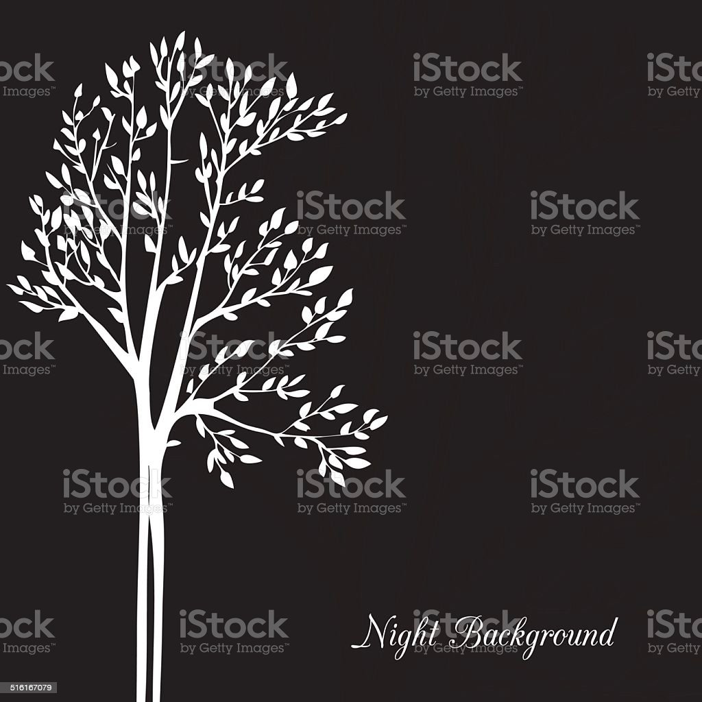 Vector background with spring trees vector art illustration