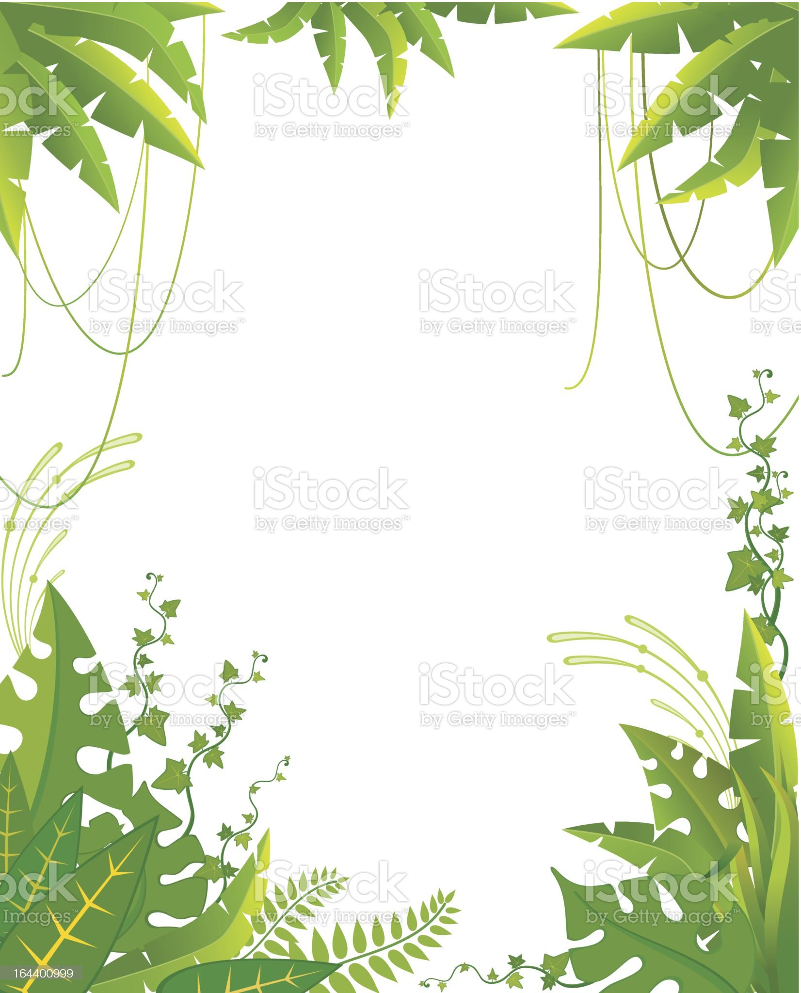 Vector background with tropical plants royalty-free stock vector art