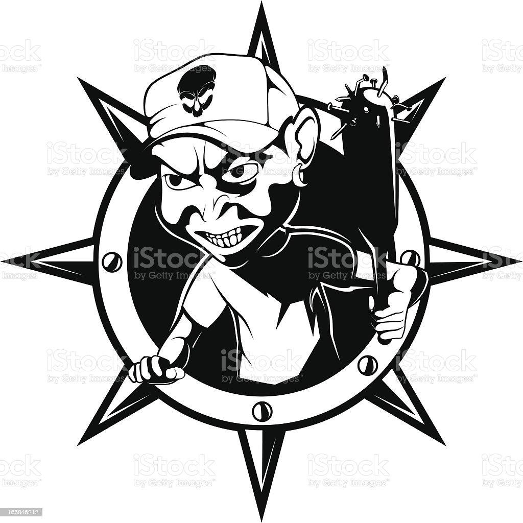 vector bad boy B&W royalty-free stock vector art