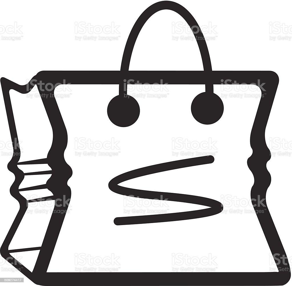 Vector Bag Black Icon vector art illustration