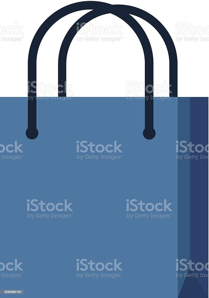 Vector Bag Flat Icon vector art illustration