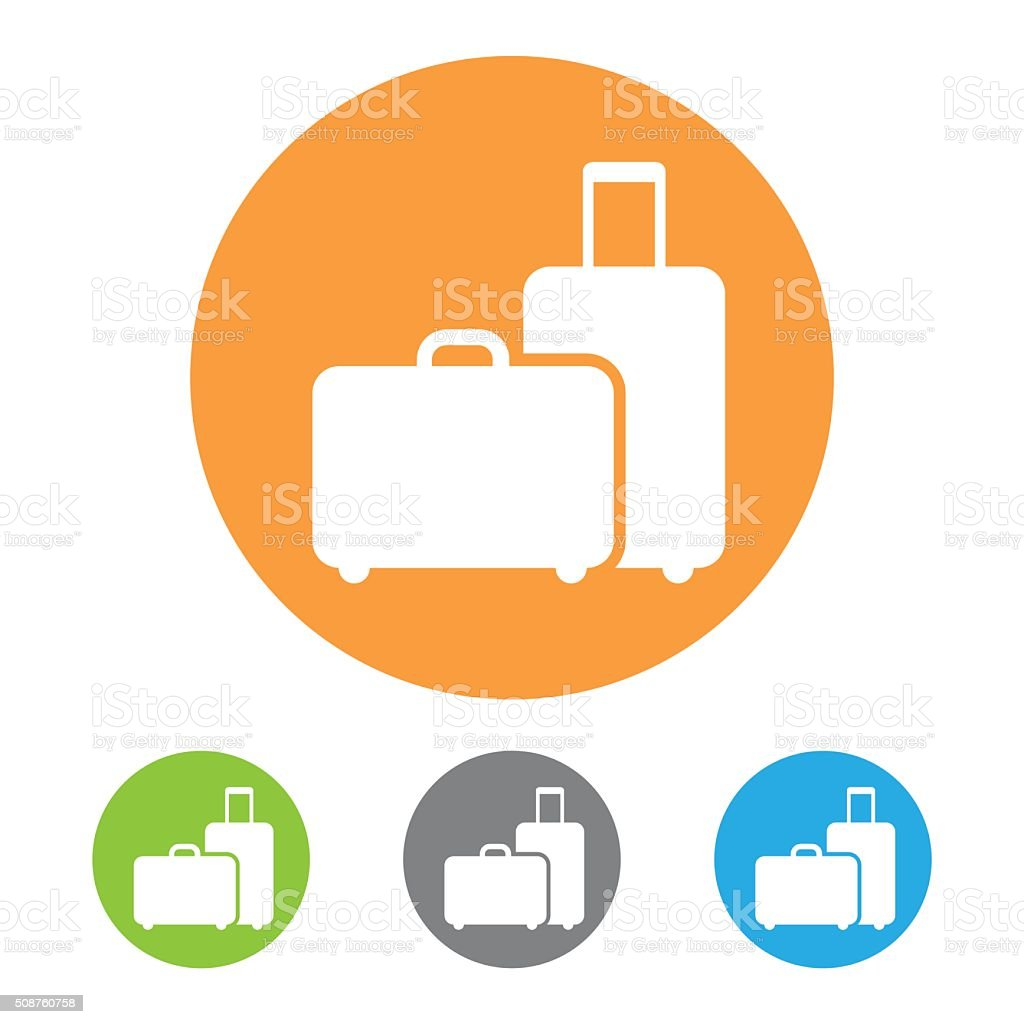 Vector baggage icon vector art illustration