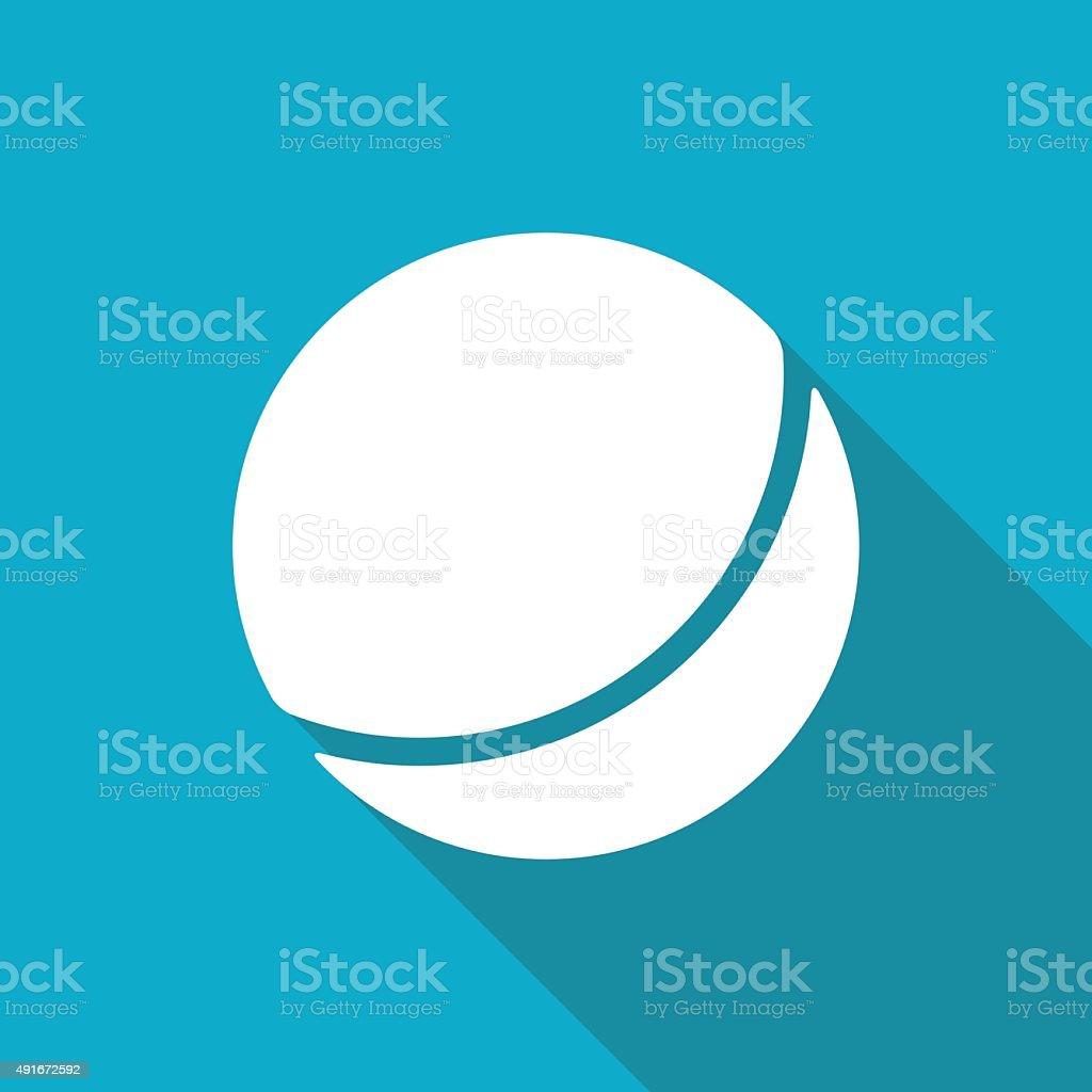 Vector ball icon vector art illustration