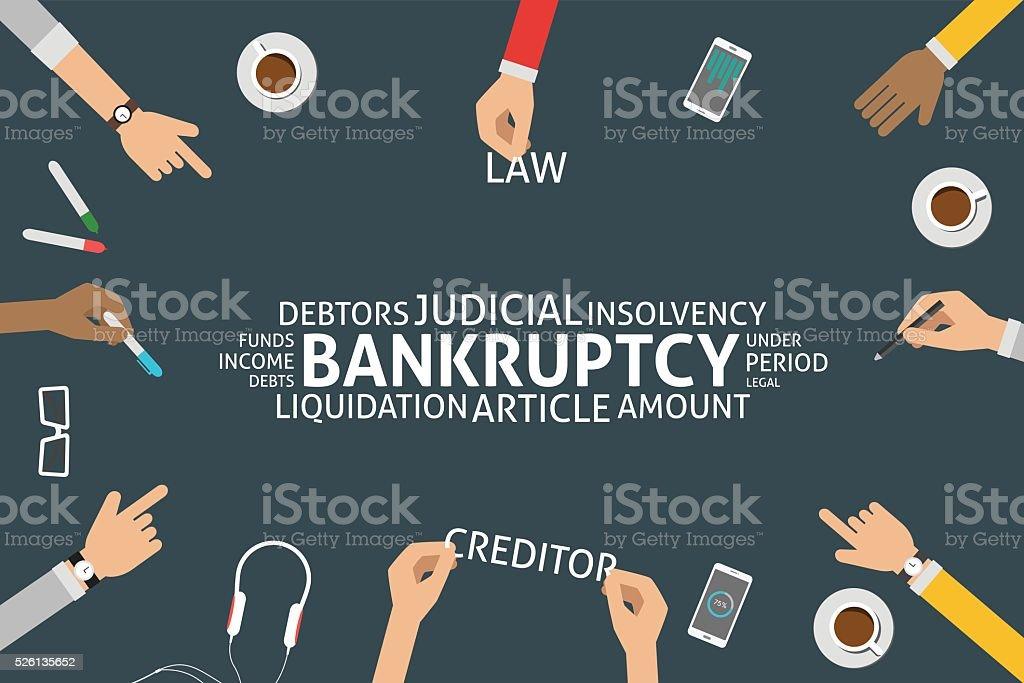 vector bankruptcy concept,template vector art illustration