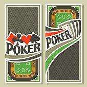 Vector banner of holdem Poker