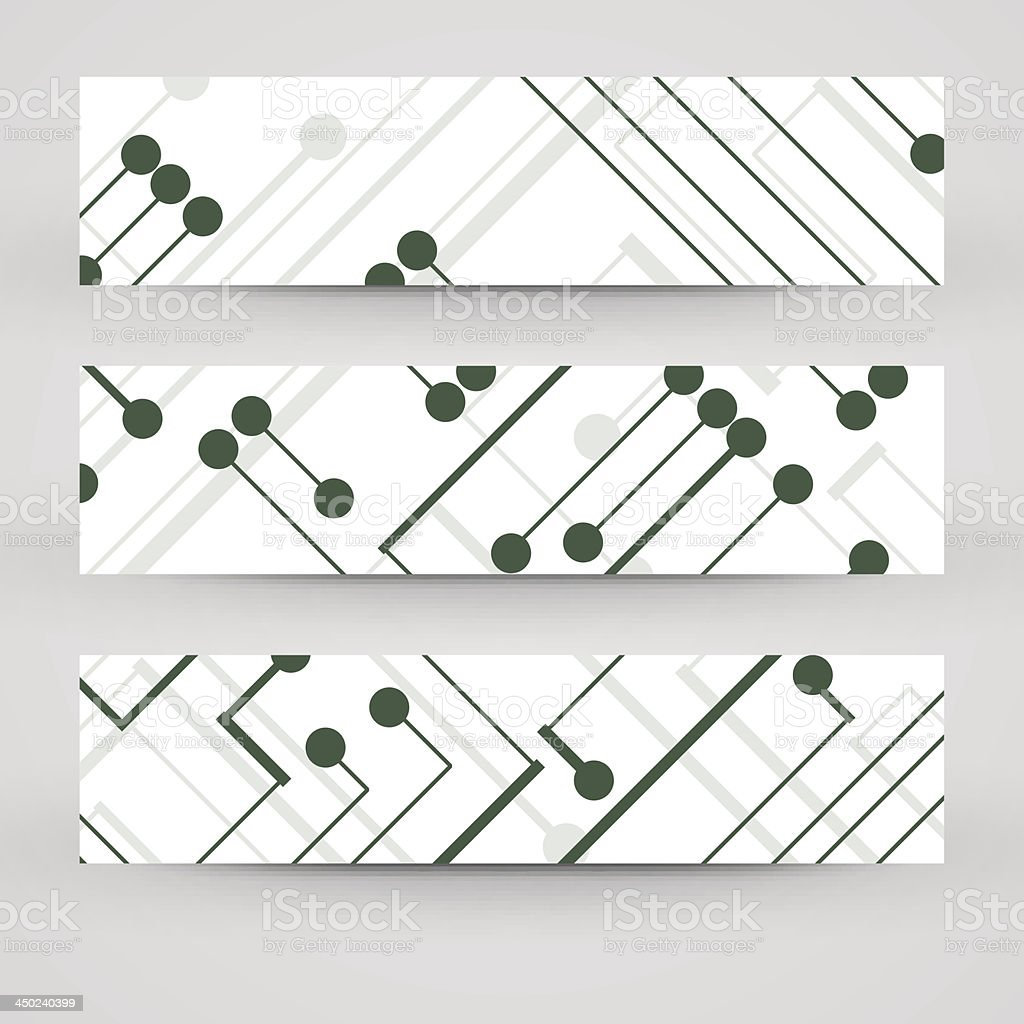 Vector banner set for your design royalty-free stock vector art