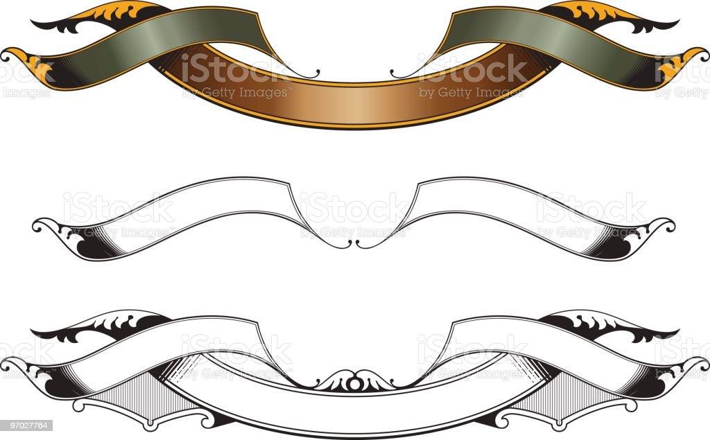 Vector Banner/Ribbon Set royalty-free stock vector art