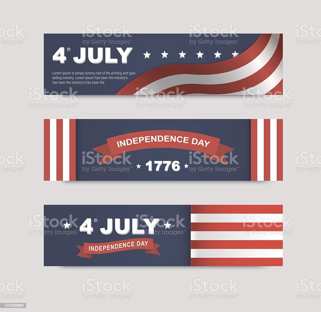 vector banners for the web to the Independence Day vector art illustration