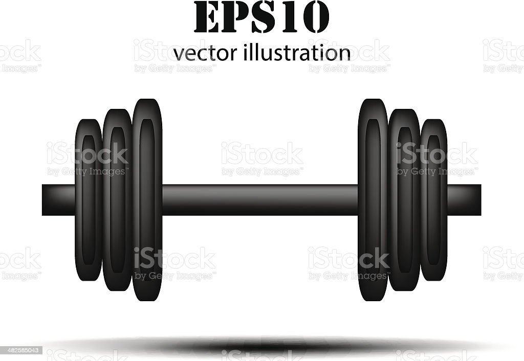 Vector barbell background royalty-free stock vector art