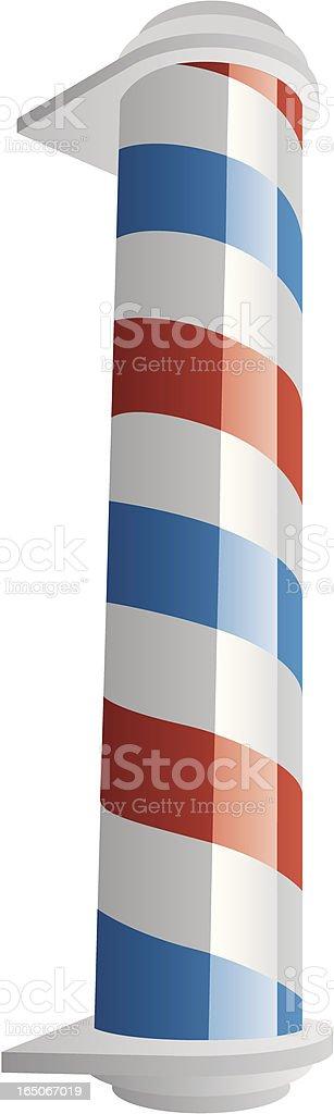 Vector Barbershop Pole royalty-free stock vector art