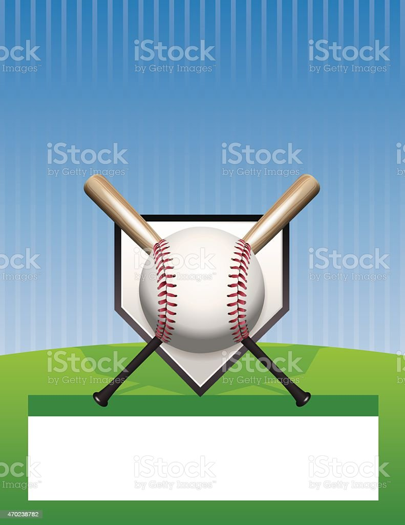 Vector Baseball Background Illustration vector art illustration