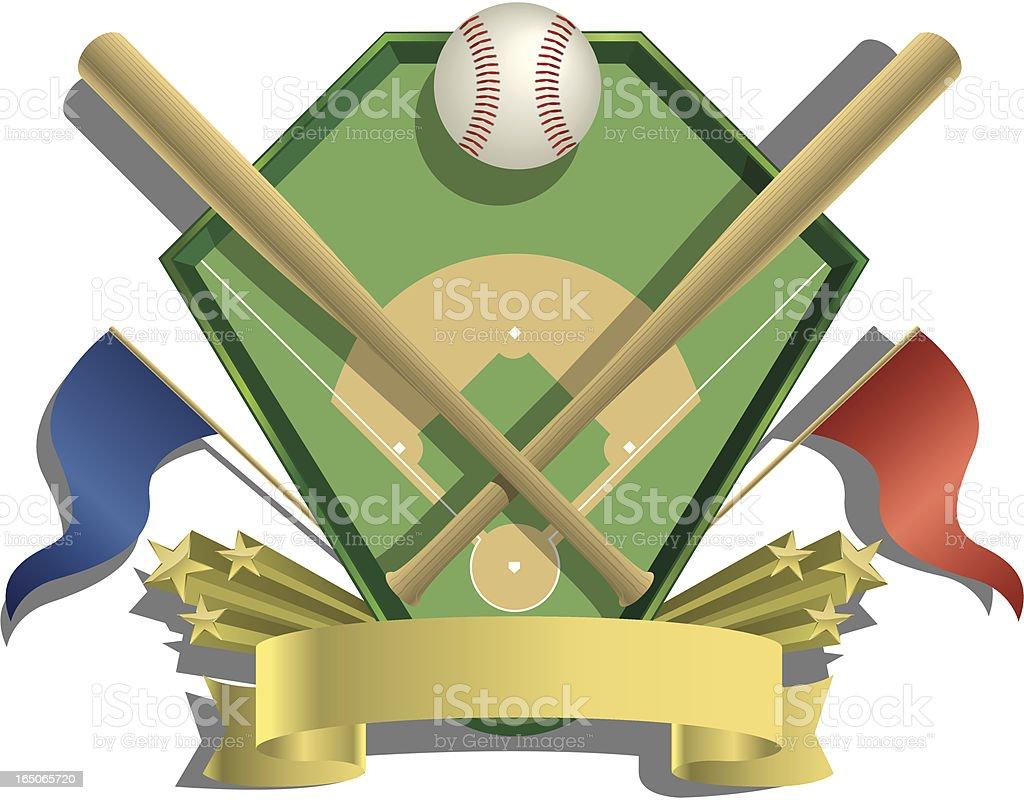 Vector Baseball Emblem royalty-free stock vector art