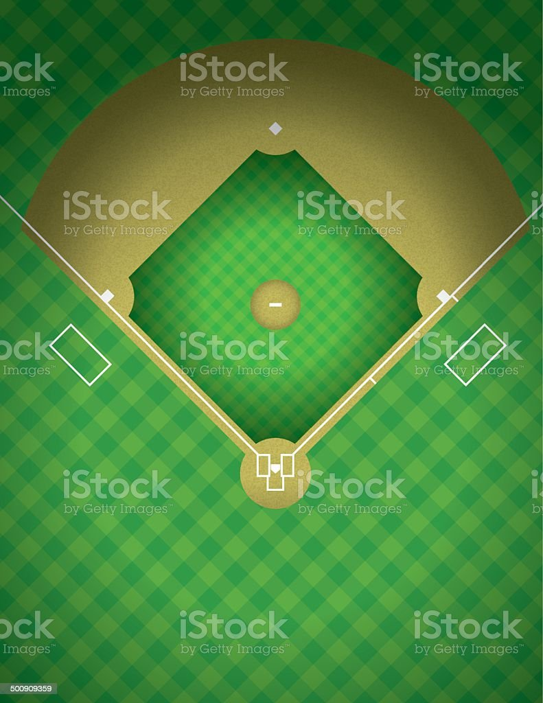 Vector Baseball Field Illustration vector art illustration