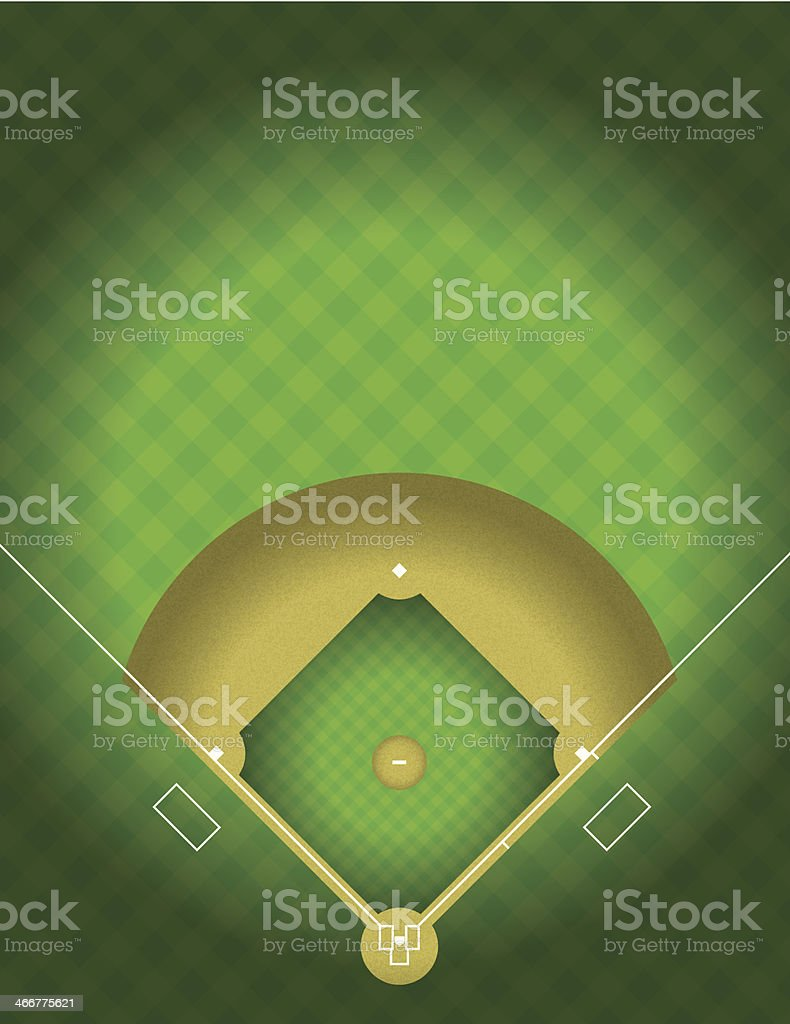 Vector Baseball Field vector art illustration
