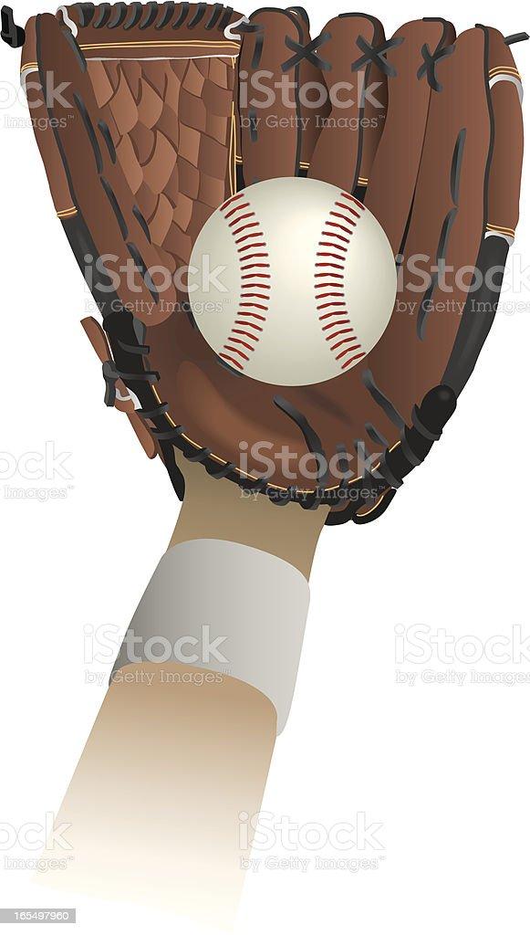 Vector Baseball Glove and Ball royalty-free stock vector art