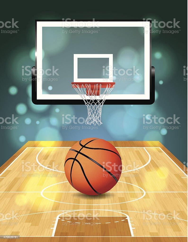Vector Basketball Court vector art illustration