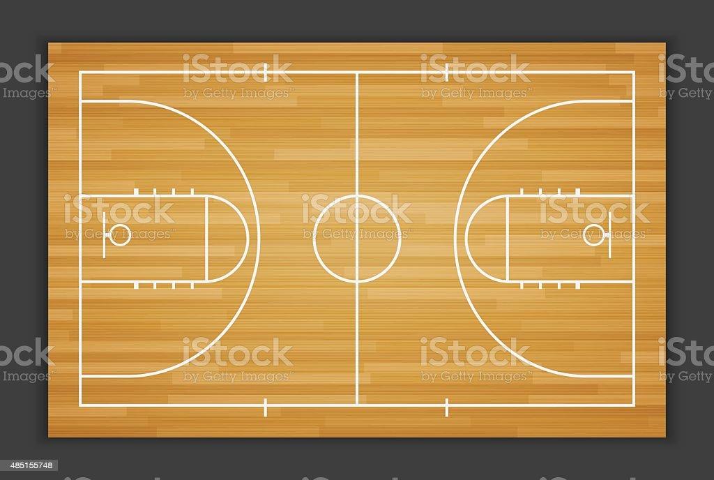Vector Basketball Field.vector vector art illustration