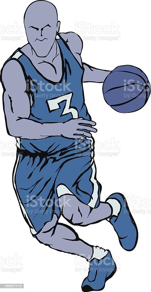 Vector Basketball Player 2 vector art illustration