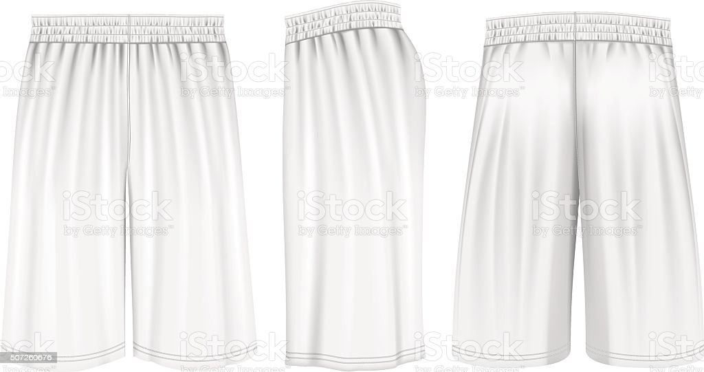 Vector basketball shorts vector art illustration