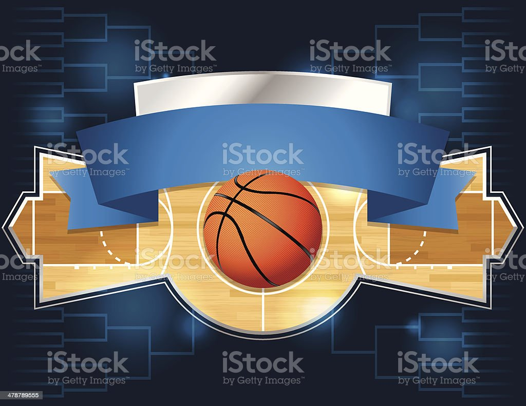 Vector Basketball Tournament Flyer vector art illustration