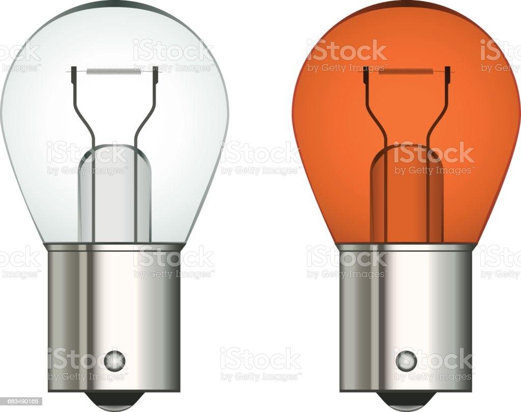 vector bayonet car bulb vector art illustration
