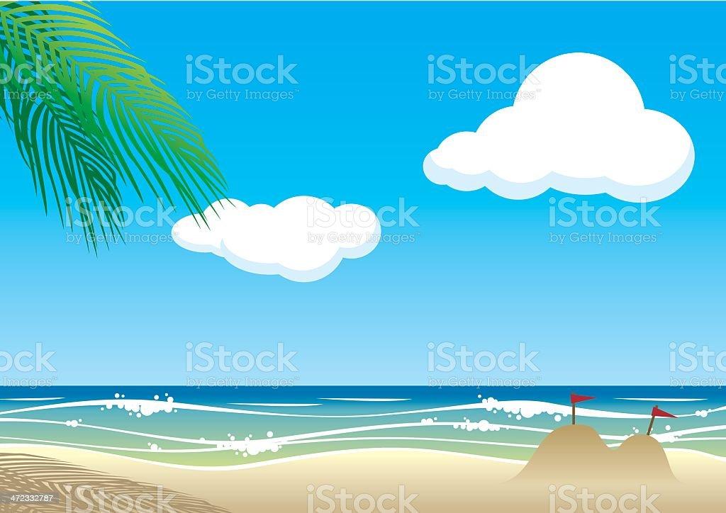 vector beach background.eps10 royalty-free stock vector art