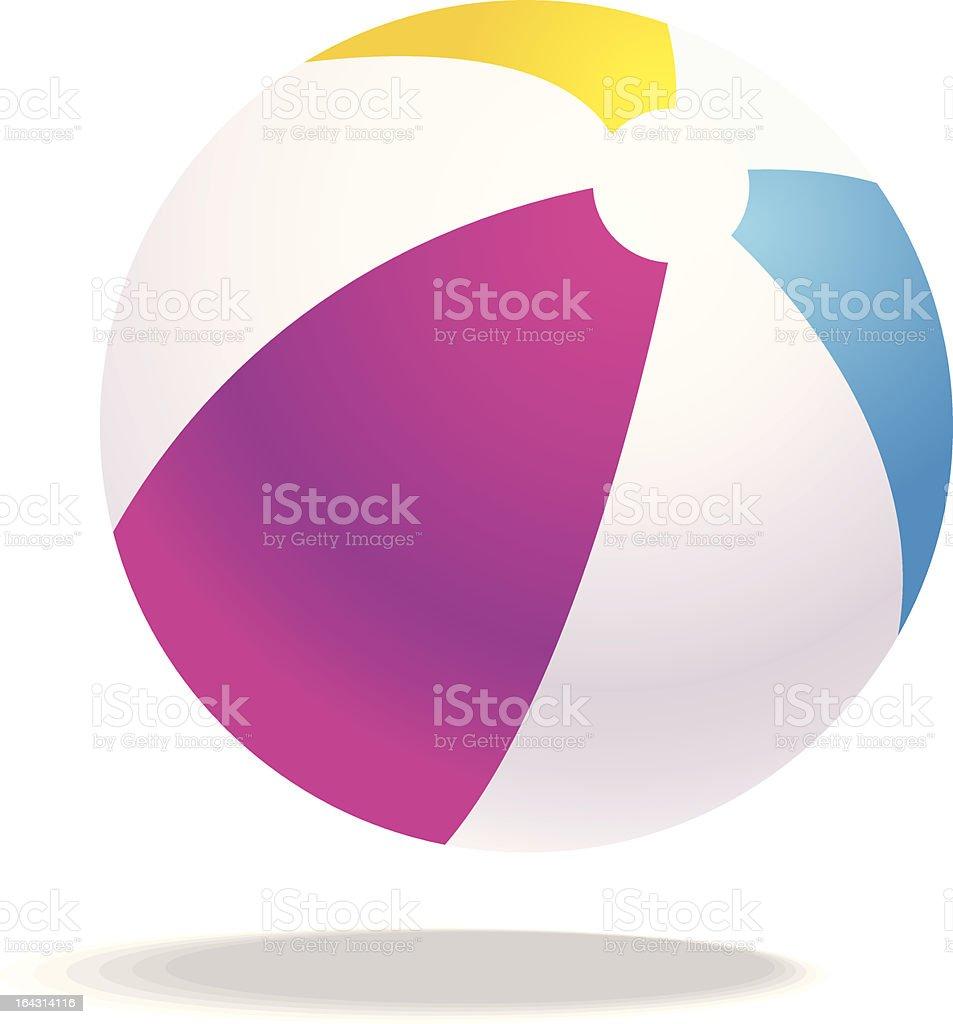 vector beach ball illustration royalty-free stock vector art