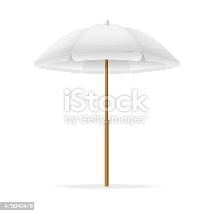 Vector Beach Umbrella Template Stock Vector Art 479040478 | Istock
