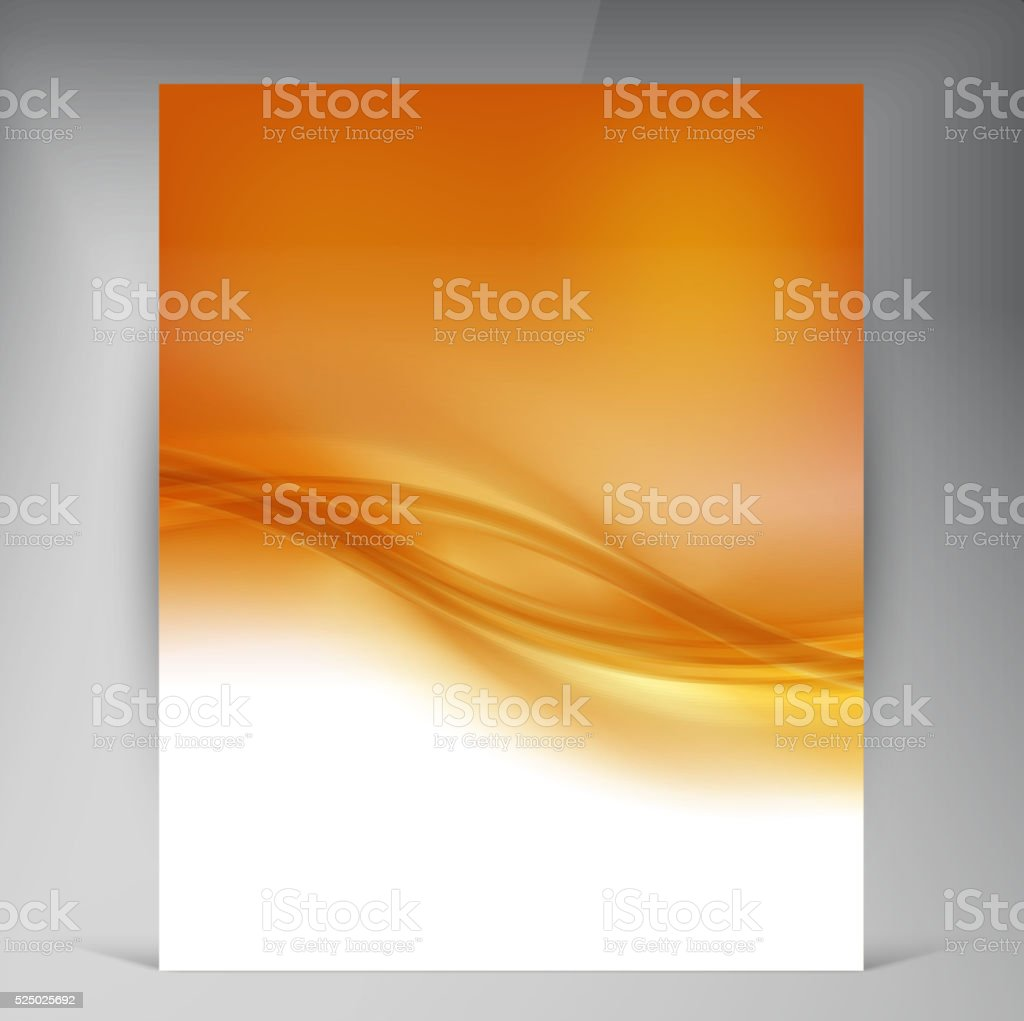 Vector Beautiful Gold Satin Flyer vector art illustration