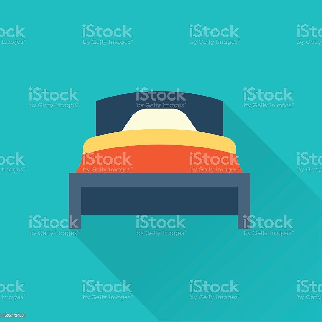Vector bed icon FLAT vector art illustration