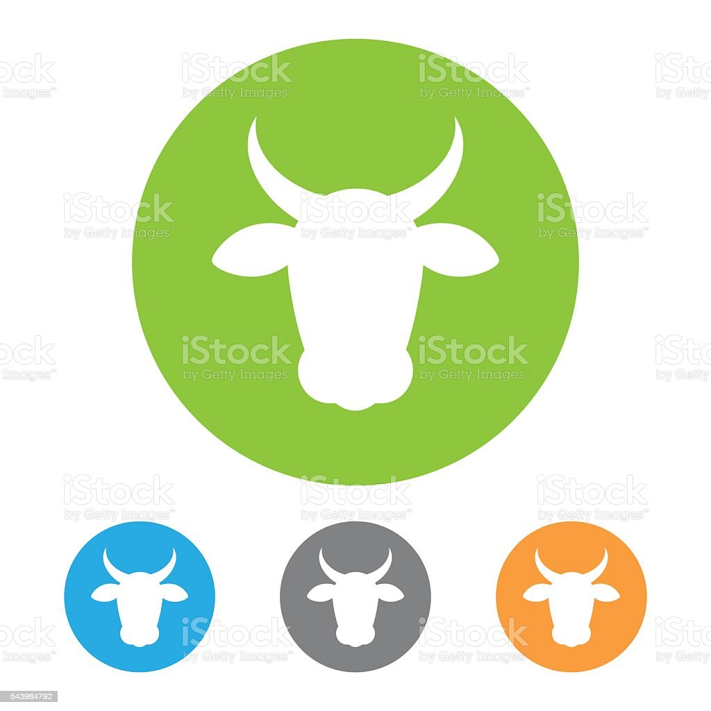 Vector beef icon vector art illustration