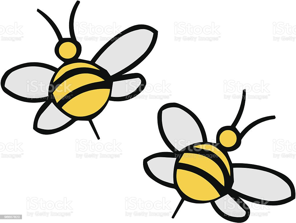 Vector bees royalty-free stock vector art