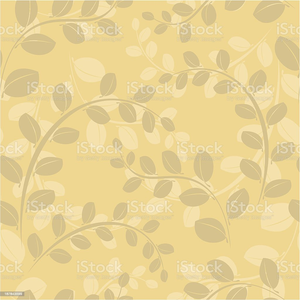 vector beige floral seamless pattern with branches royalty-free stock vector art